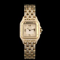 Cartier Panthère Yellow gold 22mm Silver Roman numerals