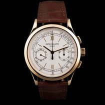 Patek Philippe Chronograph Yellow gold 39mm Silver No numerals