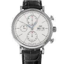 IWC Portofino Chronograph Stahl 42mm Silber Keine Ziffern