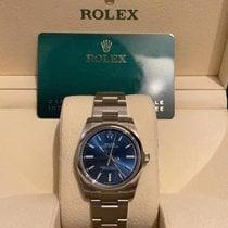 Rolex Oyster Perpetual 34 Acero 34mm Azul Sin cifras