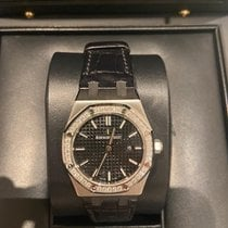 Audemars Piguet Royal Oak Lady Stål 33mm Sort Romertal