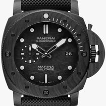 Panerai Luminor Submersible Kol 47mm Svart Inga siffror