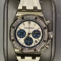 Audemars Piguet Royal Oak Offshore Lady pre-owned 37mm Silver Chronograph Date Rubber