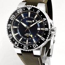 Oris Aquis GMT Date Stahl 43.5mm Blau Keine Ziffern Deutschland, Teuschnitz