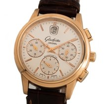 Glashütte Original Senator Chronograph Rose gold 39mm Silver No numerals