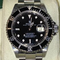 Rolex Submariner Date pre-owned 40mm Black Date Steel