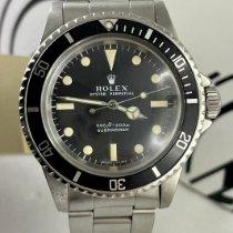 Rolex Submariner (No Date) 5513 Sehr gut Silber 40mm Automatik Schweiz, Roveredo
