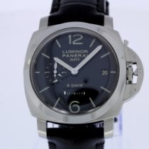 Panerai Luminor 1950 8 Days GMT Staal 44mm Zwart Arabisch Nederland, Breda