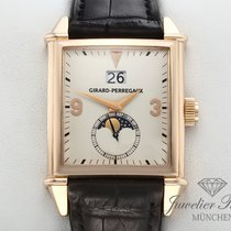 Girard Perregaux Or rose Remontage automatique Champagne Arabes 32mm occasion Vintage 1945