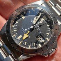 Rolex Explorer II Stahl 40mm Schwarz Keine Ziffern