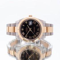 Rolex Datejust II Or/Acier 41mm Noir Romains