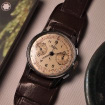 Minerva Steel 35mm Manual winding Minerva Chronograph pre-owned