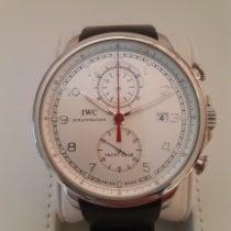 IWC Portuguese Yacht Club Chronograph usados Plata Cronógrafo Fecha Caucho