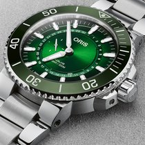 Oris Stål 43.5mm Automatisk 01 743 7734 4187-Set Hangang Limited Edition Aquis ny