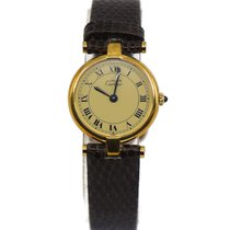 Cartier Silver Quartz Yellow 24mm pre-owned