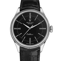 Rolex Cellini Time Bílé zlato 39mm Černá Bez čísel