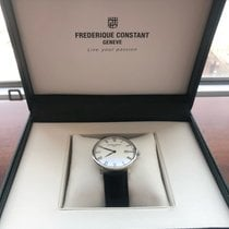 Frederique Constant Slimline Automatic pre-owned 40mm White Date Leather