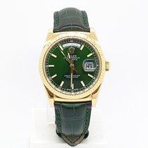 Rolex Day-Date 36 Yellow gold 36mm Green No numerals UAE, Sharjah