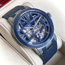 Ulysse Nardin Titanium Manual winding Transparent Roman numerals 45mm pre-owned Executive Skeleton Tourbillon
