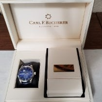 Carl F. Bucherer Manero Steel 42.5mm Blue No numerals