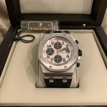 Audemars Piguet Royal Oak Offshore Chronograph occasion 42mm Argent Chronographe Date Cuir
