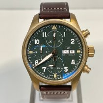 IWC Pilot Spitfire Chronograph Bronze 41mm Green Arabic numerals United States of America, New York, NY
