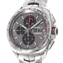 TAG Heuer Carrera Calibre 16 pre-owned 44mm Grey Chronograph Date Tachymeter Steel