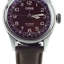 Oris Big Crown Pointer Date Acier 40mm Rouge