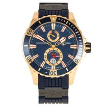 Ulysse Nardin Diver Chronometer Rose gold 44mm Blue
