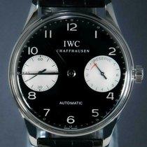 IWC Portuguese (submodel) Stahl 42mm Schwarz Arabisch