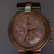 Lemania Red gold Chronograph Champagne No numerals 34mm pre-owned