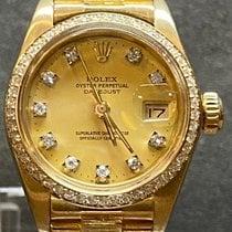 Rolex Lady-Datejust Or jaune 26mm Noir Sans chiffres Belgique, Antwerpen