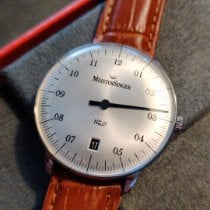 Meistersinger Steel Automatic Silver Arabic numerals pre-owned Neo