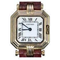 Cartier Gelbgold Quarz Weiß Römisch 29mm gebraucht Trinity