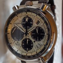 Citizen Promaster pre-owned 45mm Chronograph Flyback Date Alarm Tachymeter Leather
