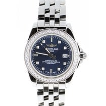 Breitling Galactic 32 Steel 32mm Blue No numerals