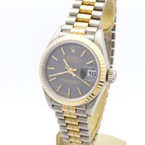 Rolex Or blanc Remontage automatique Bleu Sans chiffres 26mm occasion Lady-Datejust