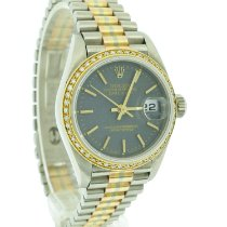 Rolex Lady-Datejust pre-owned 26mm Blue Date White gold