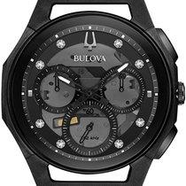 Bulova Titanium Quartz Black No numerals 44mm new Diamond