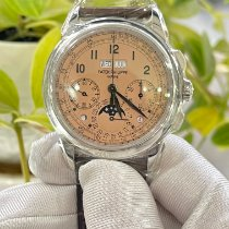百達翡麗 Perpetual Calendar Chronograph 鉑 粉紅色 阿拉伯數字 香港