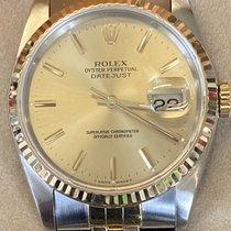 Rolex 16233 Gold/Steel 1990 Datejust 36mm pre-owned United Kingdom, Hayling Island