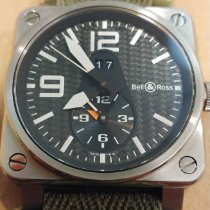Bell & Ross Titanium Automatic Black Arabic numerals 42mm pre-owned BR 03-51 GMT