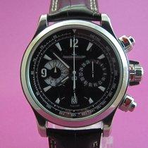 Jaeger-LeCoultre Master Compressor Chronograph Acero Negro Arábigos