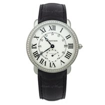 Cartier White gold Automatic Silver 40mm new Ronde Louis Cartier
