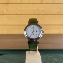 IWC Da Vinci Chronograph Stahl 37mm Weiß Keine Ziffern