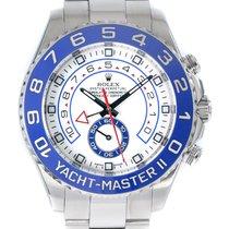 Rolex Yacht-Master II Acier 44mm Blanc Sans chiffres