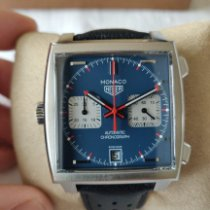 TAG Heuer Monaco Calibre 11 Acier 39mm Bleu Sans chiffres