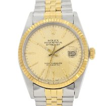 Rolex Datejust pre-owned 36mm Gold Date Gold/Steel