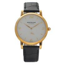Montblanc Yellow gold Automatic Silver 39mm new Star Classique