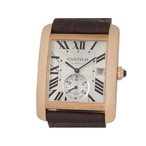 Cartier Red gold Automatic Silver 44mm pre-owned Tank MC